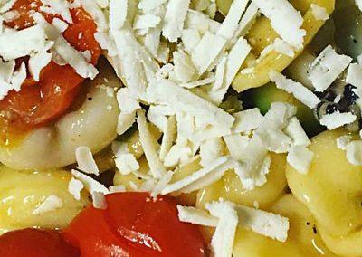 Orecchiette Seppie, Zucchine, Pomodoro Fresco e Ricotta Salata